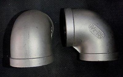 El-150 Stainless Steel Elbow 90 Coupling 1 12 Npt Pipe