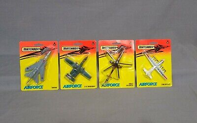 """Matchbox """"AIR FORCE"""" Die Cast Jet Airplane Helicopter Lot Of 4 - 1993 - NEW!!"""