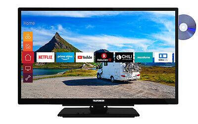 Telefunken XF22G501VD Fernseher 22 Zoll Full HD Smart TV DVD Player 12V Alexa