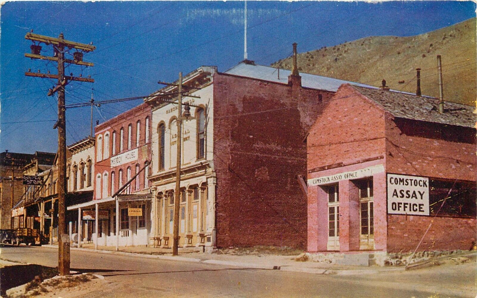 Vintage Chrome Postcard Nv Ah C386 Virginia City Reno Nevada Street View Nev Ebay