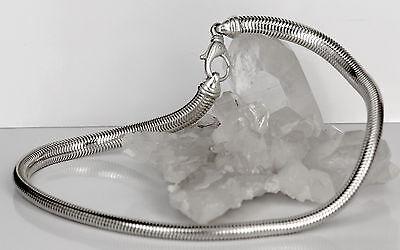 Breite schwere Schlangenkette 925er Sterling Silber massiv 9 mm/46 cm 76 Gramm