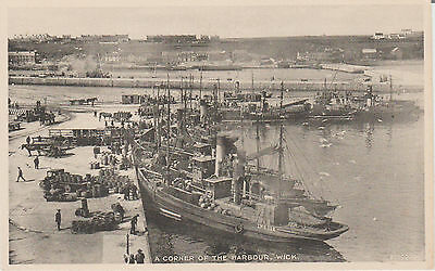 WICK - A CORNER OF THE HARBOUR   -   REAL PHOTO  POSTCARD#