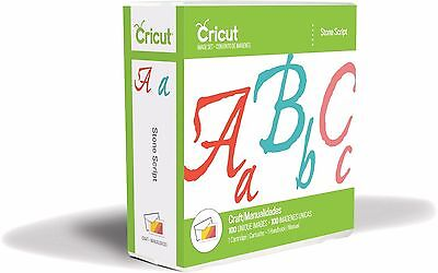 *New* STONE SCRIPT Font Cursive Number Cricut Cartridge Factory Sealed Free Ship