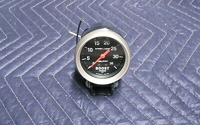 Autometer 3404 Sport-Comp Boost Gauge, 2-5/8 in., Mechanical & Chrome Cup