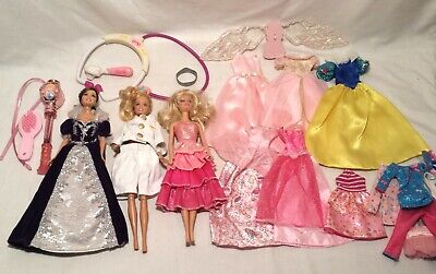 3 Barbie Dolls, Dresses and Outfits, Accessories Lot Peninsula Club Chicago