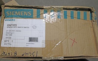 O Siemens Safety Switch Disconnect 100 Amp Cat Gnf323 Nib New In Box
