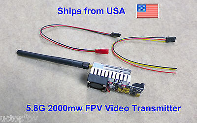 2000mw 5.8G Video Transmitter Long Range FPV Surveillance Wireless RC Plane