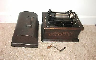 ANTIQUE EDISON STANDARD CYLINDER PHONOGRAPH WORKING (3)
