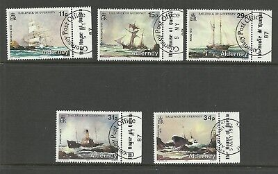 ALDERNEY 1987  Alderney Shipwrecks   very fine used set