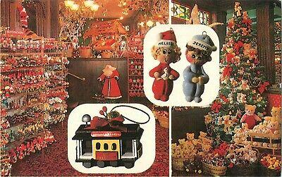 Vintage S.Claus Christmas Store, San Francisco/Napa California Adv Postcard ()