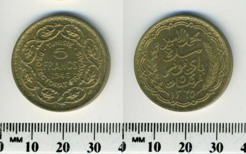 Tunisia 1946 (1365) - 5 Francs Aluminum-Bronze Coin - #1