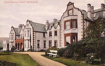 GREAT WESTERN HOTEL MALLARANNY CO. MAYO IRELAND VALENTINE POSTCARD POSTED 1921
