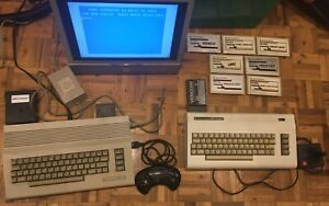 Commodore 64C & Vic-20 Bundle With Games + Manettes + Modems
