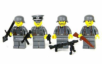 custom WW2 German Wehrmacht army squad  made w/ real LEGO(R) minifigure soldiers
