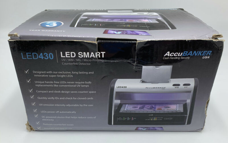 AccuBanker LED430 Counterfeit Bill and ID Detector