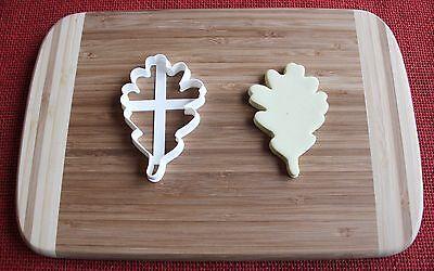 Oak Leaf Cookie Cutter Cake Topper Fondant Cutter Cupcake Topper Food Oak Leaf Cookie