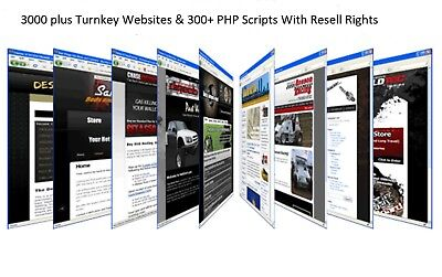 3000 Plus Turnkey Websites 300 Php Scripts With Resell Rights