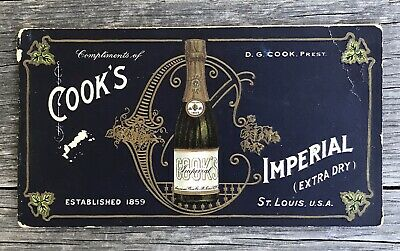 Antique Cook's Imperial Wine 1904 Worlds Fair Advertising Postcard Booklet