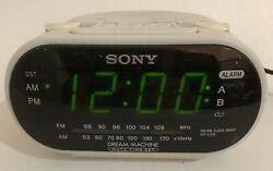 Sony ICF-C318 White Dream Machine Alarm Clock Radio - with Dual Alarm FREE SHIP