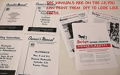 Farmall Hm.super M Hydraulic Remotechar-lynn Power Steering M H--7 Booklets