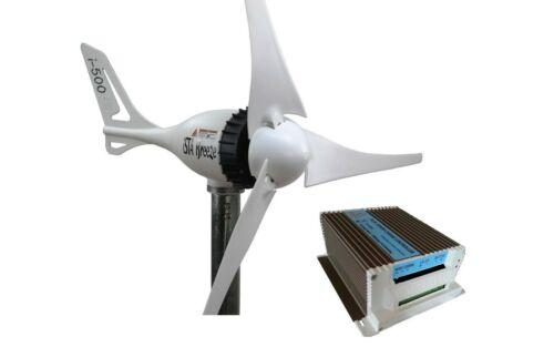 Set i-500W 12V Wind Generator + Hybrid Charge Controller