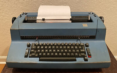 Ibm Selectric Ii Correcting Dual Pitch Typewriter Blue Tested And Working
