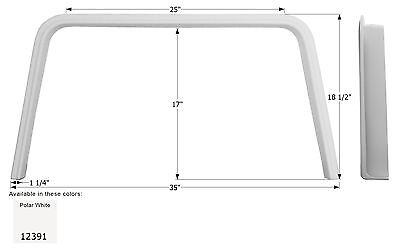 Coachmen Single RV Fender Skirt FS2391, Polar White