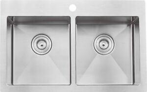 "Handmade drop-in single/double bowl sink 30""x20""x10"" from $269!!"