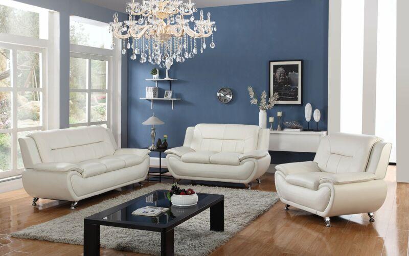 Furniture 3 Pc Leather Sofa Sets