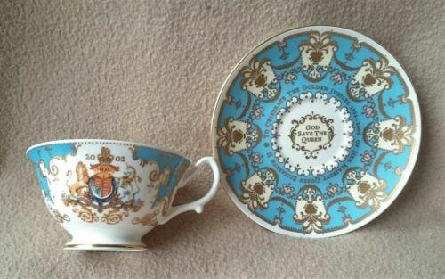 THE ROYAL COLLECTION QUEEN Elizabeth II GOLDEN JUBILEE CUP & SAUCER 1952-2002