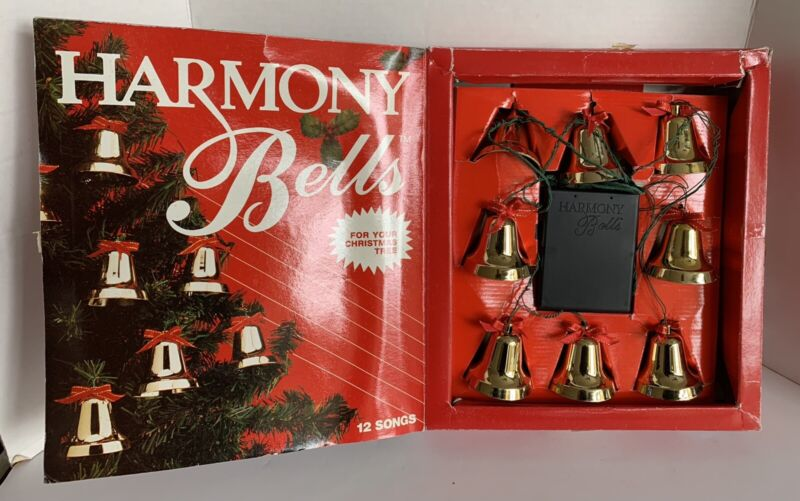 Vintage Harmony Bells Christmas Musical Decoration By Gemmy Industries