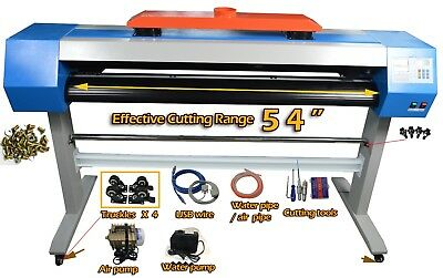Co2 Laser Cutter Vinyl Sign Sticker Cutter Plotter With Contour Cut 54 40w