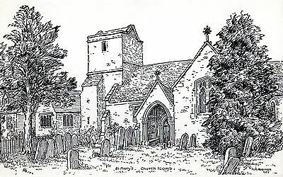1970's St MARYS CHURCH ICOMB Nr STOW ON THE WOLD GLOUCESTERSHIRE POSTCARD