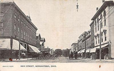 Ohio Postcard C1910 Germantown Maion Street Stores Henry Ross Company