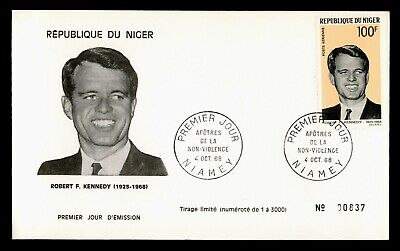DR WHO 1968 NIGER FDC ROBERT F KENNEDY  C239834