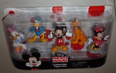 Disney Mickey Mouse 5 Piece Collectible Figure Set ~ Mickey and Friends ~ NIB