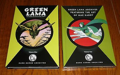 Green Lama Archives Volume 1 and 2, NEW, Dark Horse hardcovers, Mac Raboy Art!