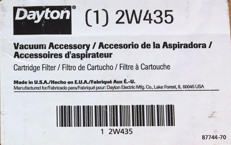 2W435 Dayton Heavy Duty Cartridge Filter, Lot of 2 Filters