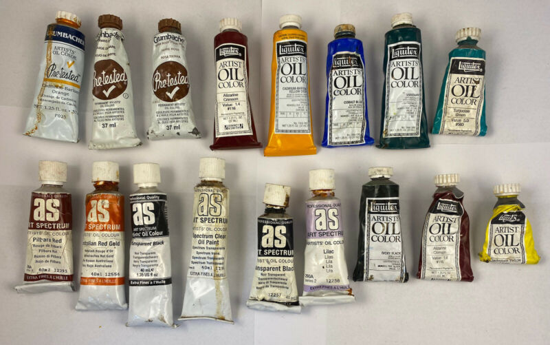 Lot Of Vintage Oil Paints Liquitex Grumbacher And AS Some Unused