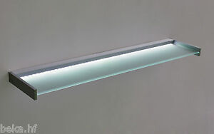Led glasregal wandregal glasboden wandboard glasboard glasbord wandpaneel ebay - Led wandpaneel ...