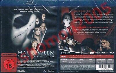 Blu-Ray HALLOWEEN 8 RESURRECTION 2002 Busta Rhymes Jamie Lee Curtis Region B NEW