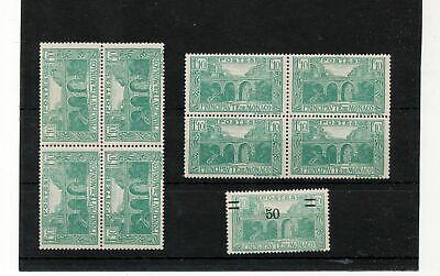 MONACO 1924/26 Blocks 1F10 MNH MH (9 Stamps) Kul 944s
