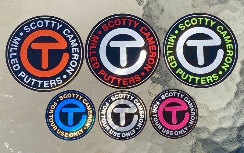 Scotty Cameron 2021 Gallery CIRCLE T TOUR • FOR TOUR USE ONLY Sticker Set (6)