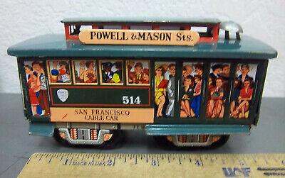 Powell & Mason st Tin Toy street cable Car, San Francisco 514, made in (Powell Street In San Francisco)