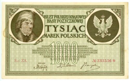 Poland ... P-22d ... 1.000 Marek ... 1919 ... (~): *VF-XF*.