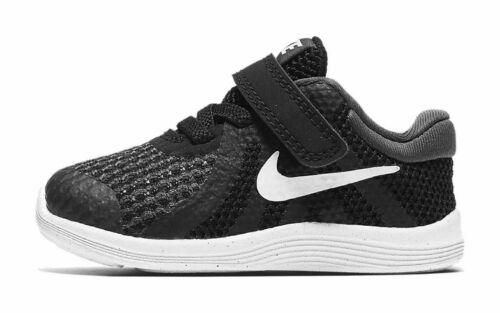 Nike Revolution 4 (TDV) Toddler Shoes 943304 006 Black White Anthracite NEW