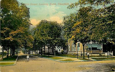 C1910 Postcard  First St  Looking North  Clearfield Pa Clearfield Co  Unposted
