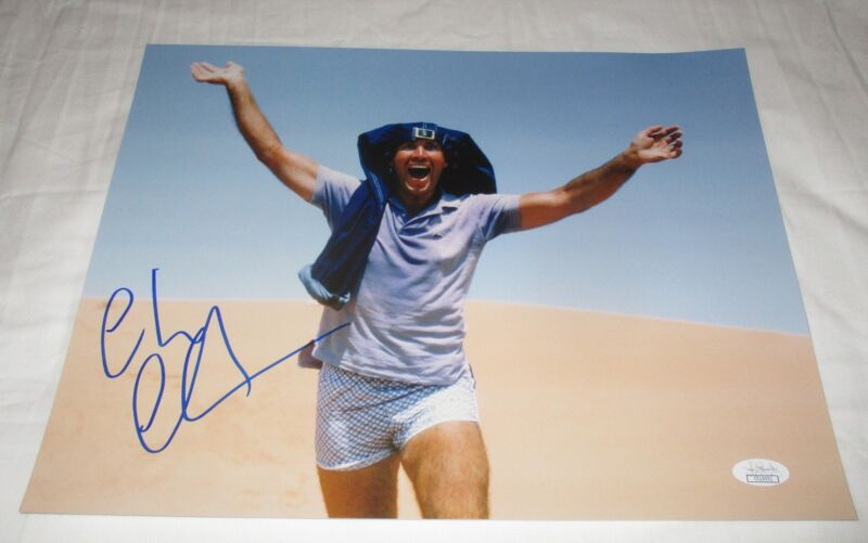 CHEVY CHASE SIGNED NATIONAL LAMPOON'S VACATION 11X14 PHOTO JSA 3