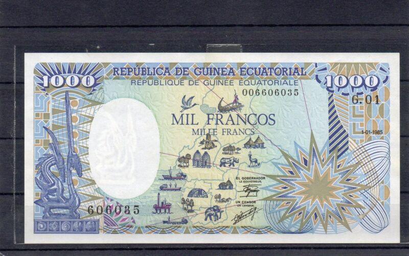 EQUATORIAL GUINEA Africa 1000 Francs UNC 1985 p-21