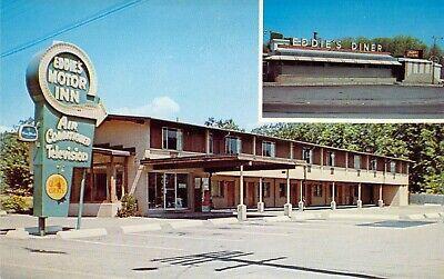 MA Quincy EDDIES DINER Retro & MOTOR INN 1959-64 Vintage MINT postcard